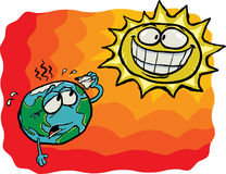 Crazy Sun VS Earth Stock Photography