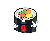 Crazy sushi cartoon Stock Image