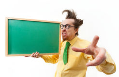 Crazy teacher Stock Images