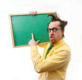 Crazy teacher Stock Photography