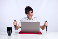 Crazy about technology stock photography