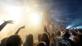 Crazy teens at concert Stock Photography