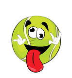 Crazy tennis ball cartoon Stock Photos