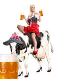 Crazy tiroler or oktoberfest woman Royalty Free Stock Images