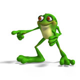 Crazy Toad. Cartoon Frog with funny Face contains Clipping Path vector illustration