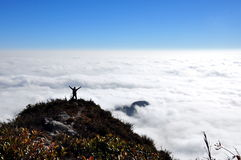 Crazy on the top of moutain. So crazy on the top of moutain - Bach Moc Luong Tu, the 4th highest moutain in Viet Nam - Lao Cai, Lai Chau Stock Images