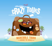 Crazy tours design Royalty Free Stock Image