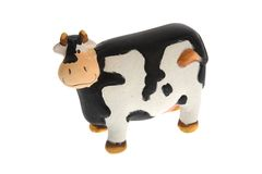 Crazy toy cow Royalty Free Stock Image
