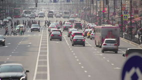 Crazy Traffic In A Center Of A Big City stock video footage