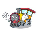 Crazy train mascot cartoon style. Vector illustration Stock Photos