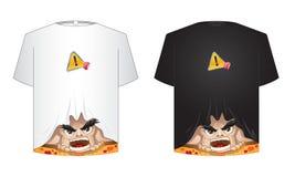 Crazy tshirt. Crazy shirt black and white Royalty Free Stock Image