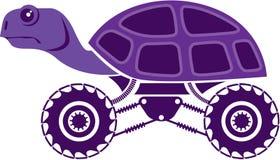 Crazy turtle. Vector illustration clip-art Stock Photos