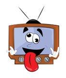 Crazy Tv cartoon Royalty Free Stock Image