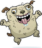 Crazy Ugly Dog. A cartoon illustration of an ugly dog looking crazy Royalty Free Stock Photos