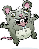 Crazy Ugly Rat. A cartoon illustration of an ugly rat looking crazy Royalty Free Stock Photos