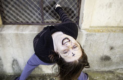 Crazy vampire girl Royalty Free Stock Images