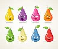 Crazy vector pears Stock Photography