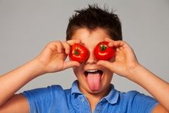 Crazy about vegetables Royalty Free Stock Photo