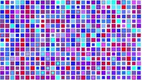 Crazy violet blue color squares, Alpha stock video footage