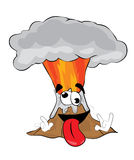 Crazy volcano cartoon Royalty Free Stock Images