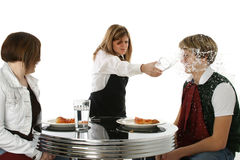 Crazy Waitress royalty free stock photos