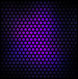 Crazy wallpaper with hexagons Royalty Free Stock Photography