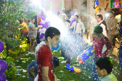 Crazy Water Gun Party Royalty Free Stock Images