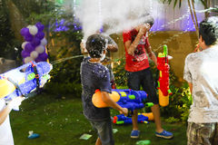 Crazy Water Gun Party royalty free stock photography