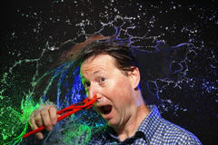 Crazy water splash portrait Stock Image