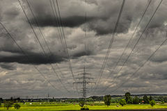 Crazy weather and electricity Royalty Free Stock Image