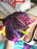 Multicolor Hair royalty free stock images