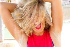 Crazy, wild girl Stock Images