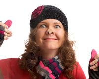 Crazy winter sales Stock Photography