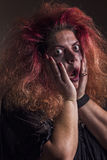 Crazy witch scared Royalty Free Stock Image