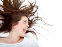 Crazy woman Royalty Free Stock Image