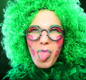 Crazy woman Stock Photography