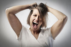 Crazy woman Royalty Free Stock Photos