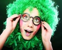 Crazy woman Stock Image