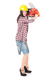 Crazy woman Royalty Free Stock Images