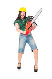 Crazy woman Stock Images