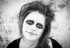 Crazy woman Gothic Royalty Free Stock Images