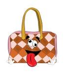 Crazy woman handbag cartoon Stock Photo