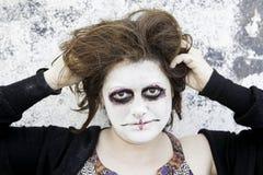 Crazy woman makeup Stock Photos