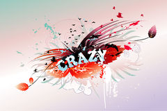 Crazy word stock illustration