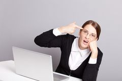 Crazy worker Stock Images
