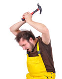 Crazy worker Royalty Free Stock Photography