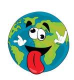 Crazy World globe cartoon Royalty Free Stock Image