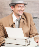 Crazy writer Royalty Free Stock Photo
