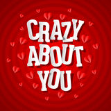 Crazy about you Stock Photography