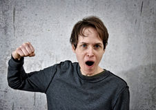 Crazy young man Royalty Free Stock Photos